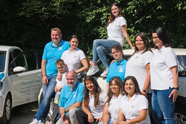 Das Team von Pflegedienst Sanus in Stuttgart
